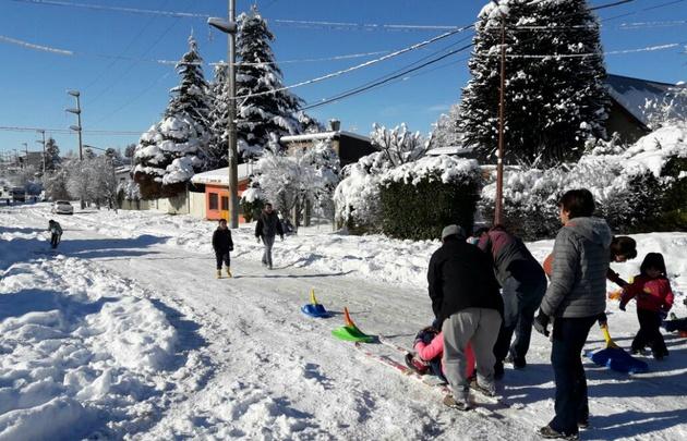 La mayor nevada en 20 años en Bariloche