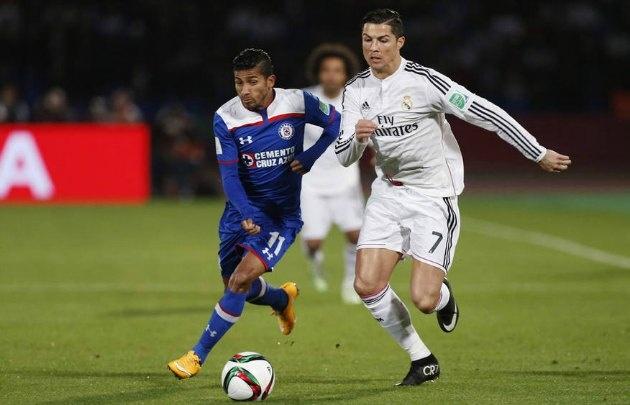 Joao Rojas enfrentó con Cruz Azul a Real Madrid en el Mundial de Clubes 2014.