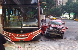 El accidente ocurrió en Maipú y San Jerónimo.