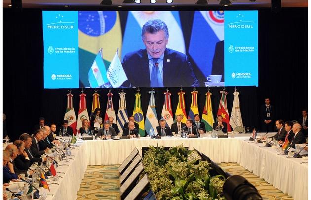 Macri encabezó la reunión de presidentes.