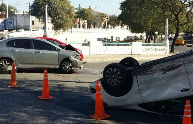 El accidente ocurrió en Marcelo T. de Alvear y Richardson.