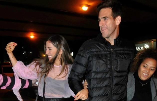 Jimena Barón y Del Potro en una salida juntos (Foto: Movil Press).