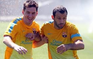 Messi y Mascherano, juntos en la gira del Barcelona por Estados Unidos.