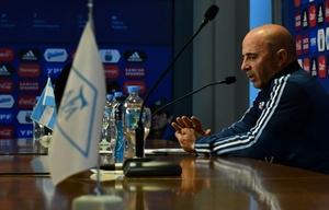 Jorge Sampaoli, DT de la Selección.