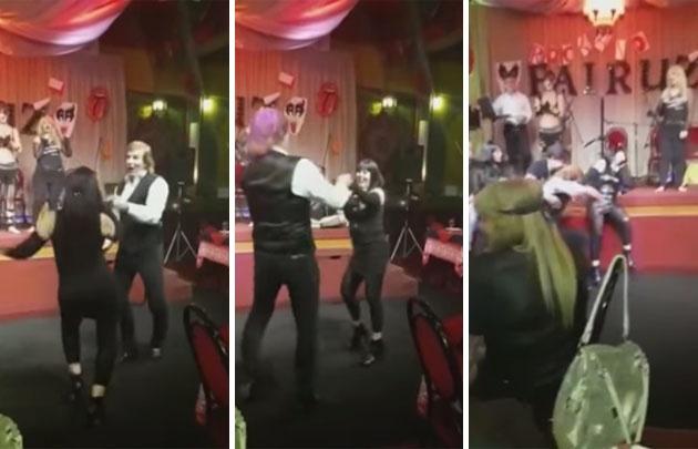 ''El Bambino'' Veira sufrió un accidente en pleno baile de rock and roll.