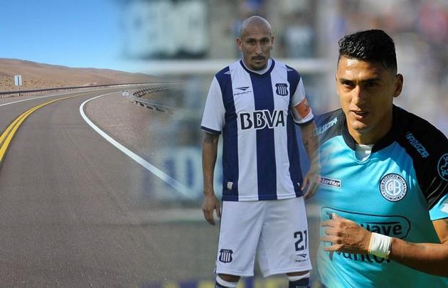 ''El Cholo'' Guiñazú y Matías Suárez, emblemas de Talleres y Belgrano.