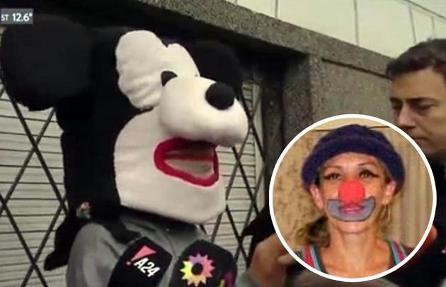 Los supuestos usurpadores brindaron una entrevista disfrazados de Mickey.