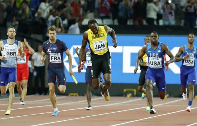 Bolt no pudo terminar su última carrera.