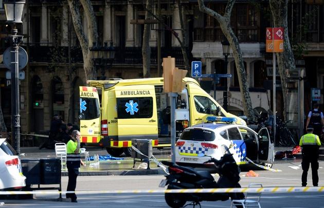 El jueves, una furgoneta atropelló a una multitud en La Rambla.