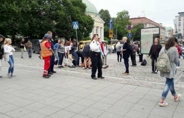 Primeras imágenes del ataque en Finlandia.