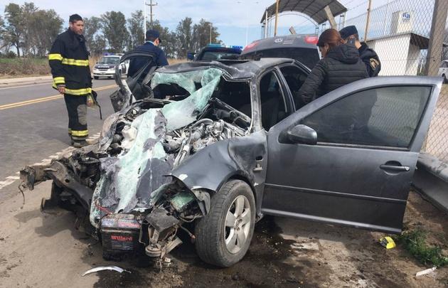 El accidente fue en la ruta 158, en inmediaciones a Arroyo Cabral.