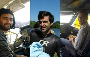Ronzano, Aristi y Vega viajaban en el avión que fue encontrado este sábado.