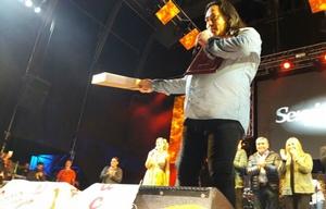 Galleguillo en el festival Atahualpa.