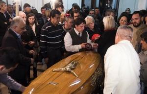 Velan los restos de Angeloz en Córdoba