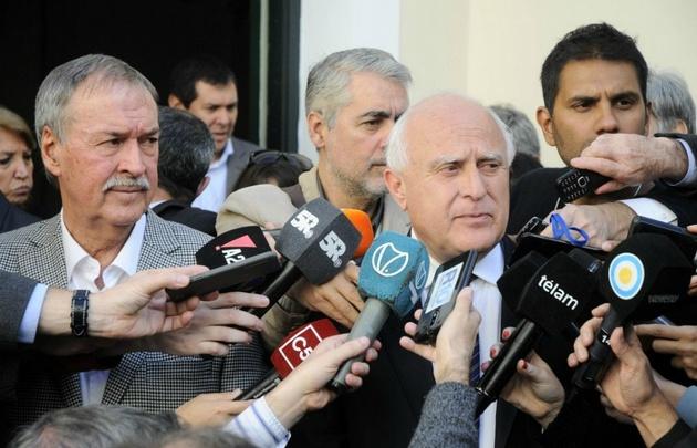 Schiaretti y Lifschitz tras la reunión de gobernadores en Buenos Aires