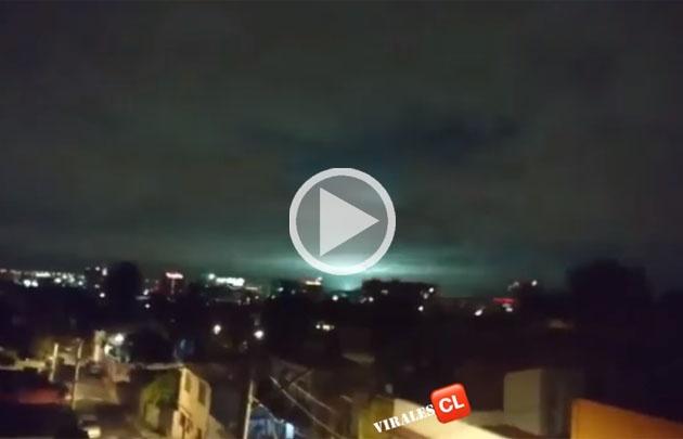 Extrañas luces en medio del terremoto en el cielo de méxico