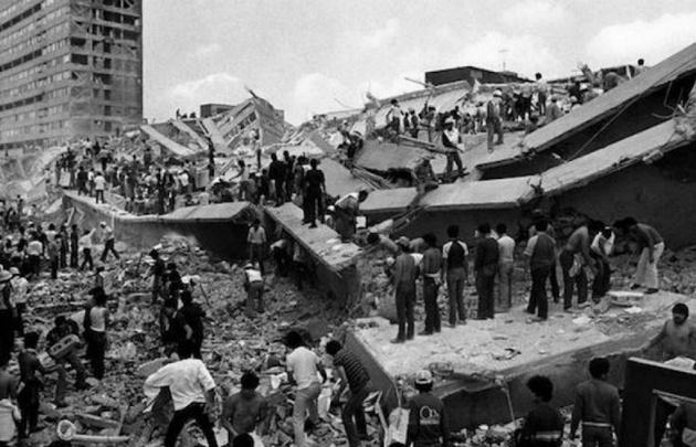 El terremoto que golpeó a México en 1985.