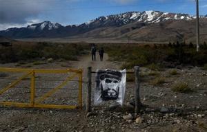 Ingreso al Pu Lof, territorio mapuche donde se vio a Maldonado por última vez.