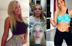 La joven personal trainer fue víctima de una tremenda paliza.