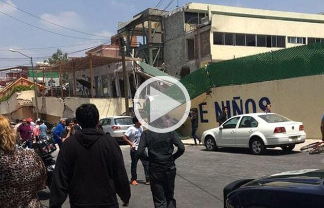 Murieron más de 20 niños en el Colegio Enrique Rébsamen.