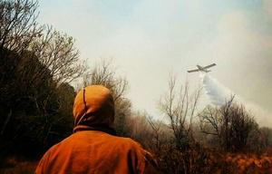 Mariano combatió los incendios en las sierras (Foto ilustrativa)