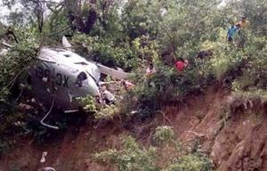 El vehículo aéreo se estrelló en la comunidad de San Pedro Leapi.
