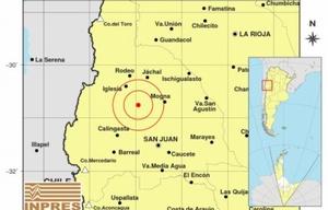 Un sismo de magnitud 5.3 sorprendió a San Juan