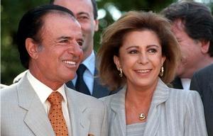 Carlos Menem y María Julia Alsogaray.