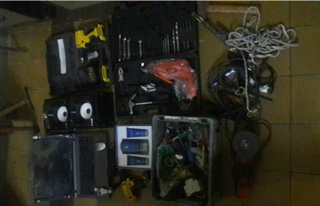 Los elementos recuperados por la Policía.