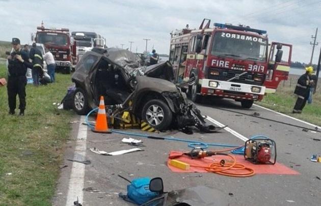 Tres muertos por un tremendo choque en la ruta 33 en Santa Fe.