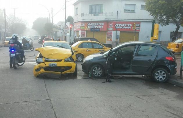 El accidente fue en la esquina de Almirante Brown y Santa Ana, en Ciudad de Córdoba.