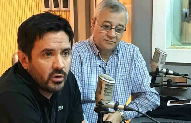 Gastón García y Jorge Zarzur de la Fundación para la Medicina.