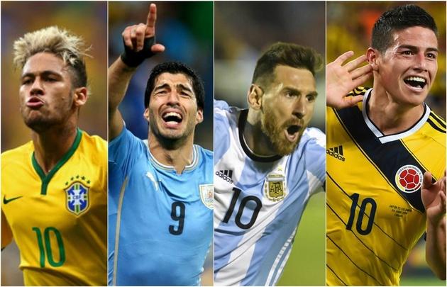 Brasil, Uruguay, Argentina y Colombia obtuvieron la clasificación directa al Mundial.