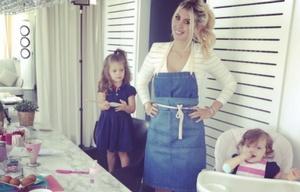 La modelo suele compartir fotos de su familia en las redes sociales.