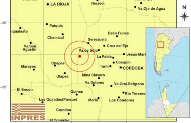 Un sismo sorprendió a cordobeses y riojanos.