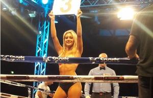 Sol Pérez debutó como ring girl.