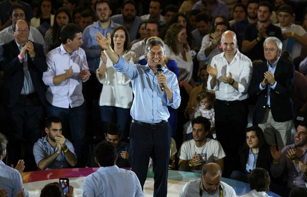 Macri en el acto de cierre de campaña de Vamos Juntos.