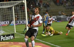 El uruguayo Marcelo Saracchi abrió la cuenta para el equipo ''millonario''.