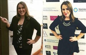 El antes y después de Malena Guinzburg.