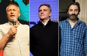 Baldassi, Llaryora y Carro, los principales candidatos de cada lista.