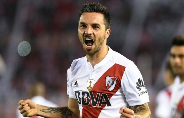 ''Nacho'' Scocco marcó el gol del triunfo de River.