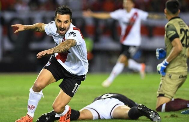 Scocco grita su gol, que significó el valioso triunfo del ''Millo''.
