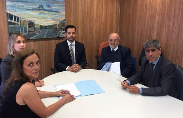 Montero, García Elorrio y Quinteros, en Brasil.