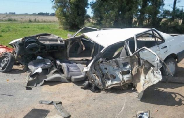 Choque fatal en la ruta 8 en cercanías de Suco (Foto: Puntal)