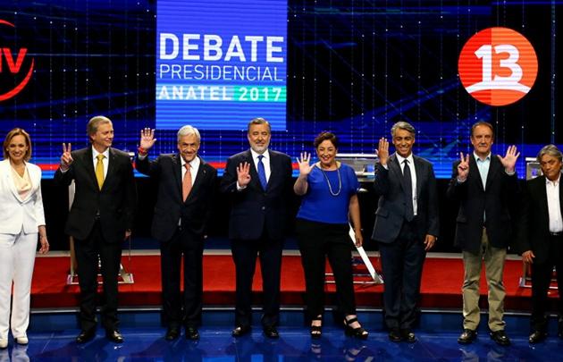 Los candidatos a suceder a Michelle Bachelet en Chile.