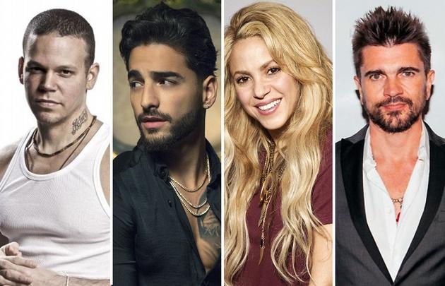 Residente, Maluma, Shakira y Juanes entre los nombres más resonantes.