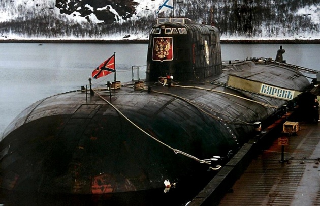 El submarino ruso Kursk se hundió en el 2000.