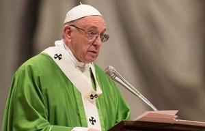 El Papa Francisco durante la homilía. (Foto: Daniel Ibáñez / ACI Prensa)