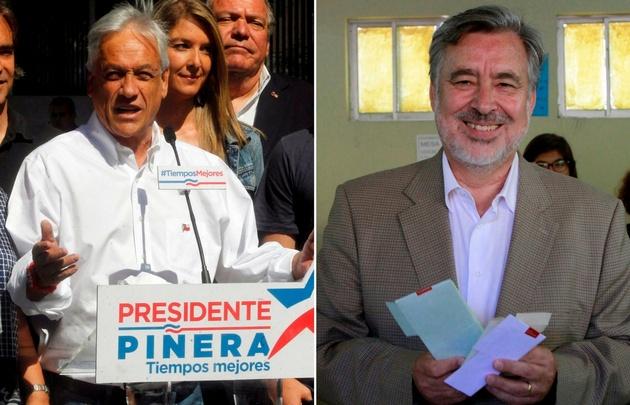 Piñera y Guillier serán los protagonistas de la segunda vuelta el 17 de diciembre.