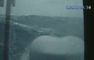 Así es la búsqueda del submarino, desde el ARA Sarandí.